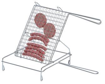 Griglia doppia su supporto in acciaio cromato