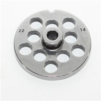 Piastra 14 mm per tritacarne n.22