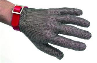 Guanto in maglia inox tg. 5 e 5,5