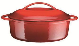 Cocotte in ghisa ovale 33 cm, cap. 2,3 l