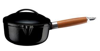Pentolino in ghisa nera 16 cm, cap. 1,45 l