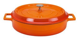 Coccotte rotonda bassa 28 cm color arancio