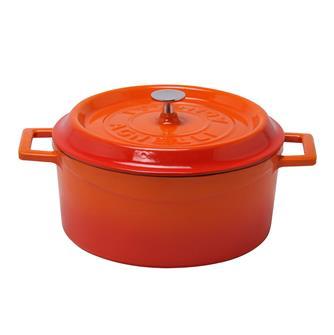 Cocotte rotonda colore arancio 24 cm