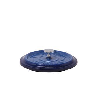 Coperchio rotondo color blu in ghisa