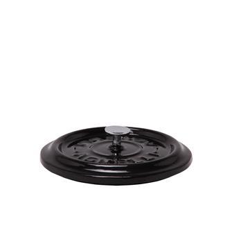 Coperchio rotondo color nero brillante in ghisa
