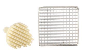 Griglia e spingitore 8 mm per taglia patatine prof