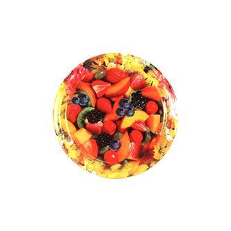 Capsule (tappi) twist-off con decori di frutta e fiori, diam. 63 mm. (10 pz.)
