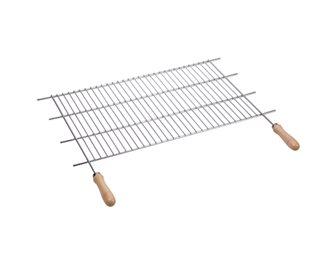 Griglia barbecue inox tagliabile in larghezza 52,5/62,5x40 cm