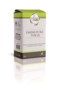 Farina di grano tenero T65 da agricoltura sostenibile del Tarn (Francia)