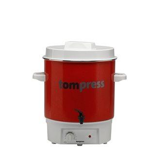 Pastorizzatore smaltato elettrico Tom Press con rubinetto