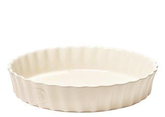 Tortiera alta ceramica bianco argilla Emile Henry 28 cm