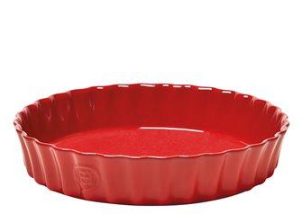 Tortiera alta rosso Grand Cru Emile Henry 24 cm.
