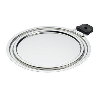 Coperchio inox 3 diametri 20-22-24 cm