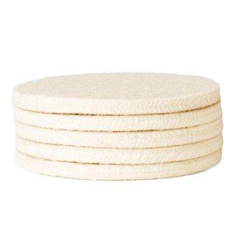 5 feltri di ricambio per tampone crepiera 7,5 cm