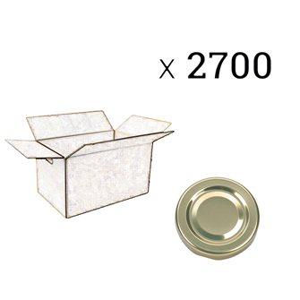 Tappi-capsula dorato 48 mm (2700 pezzi)