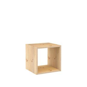 Scaffalatura modulabile 1 cubo legno di pino massello non verniciato