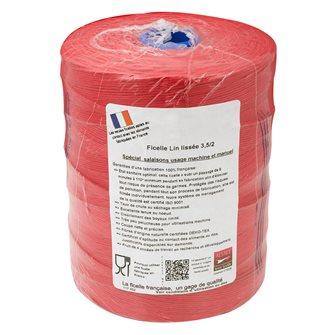 Rotolo da 1 kg filo lino rosso per salumi