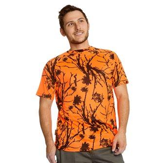 T-shirt uomo traspirante Bartavel Diego camouflage arancio L