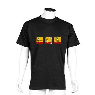 T-shirt uomo nera Bartavel Nature stampa cacciatore che perde la preda L