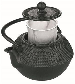 Teiera in ghisa nera 720 ml inox compatibile con induzione