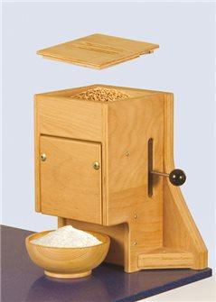 Mulino manuale per farina in legno grande capacità-fino 4,5 kg/h