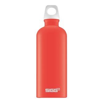 Borraccia alluminio rosso chiaro 0,6 l riutilizzabile Lucid Scarlet Touch Sigg