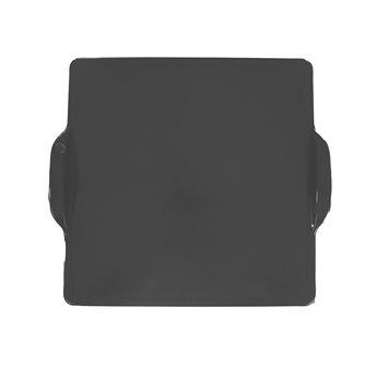 Piastra per forno e barbecue quadrata in ceramica 35 cm antracite Emile Henry