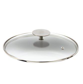 Couvercle verre pour bassine à confiture inox avec anse 30 cm