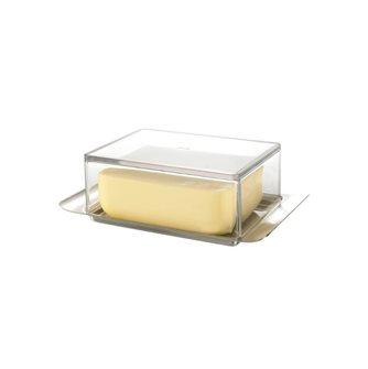 Portaburro elegante 250 gr inox + coperchio trasparente
