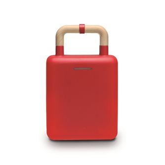 Piastra antiaderente rossa 2 in 1 per gaufre e croque monsieur 600 W